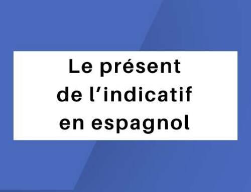 Le présent de l'indicatif en espagnol